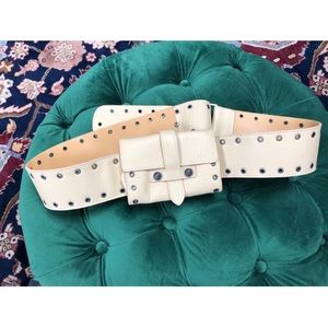 Versace Tan Leather Belt w/ Pocket Size 36 inches